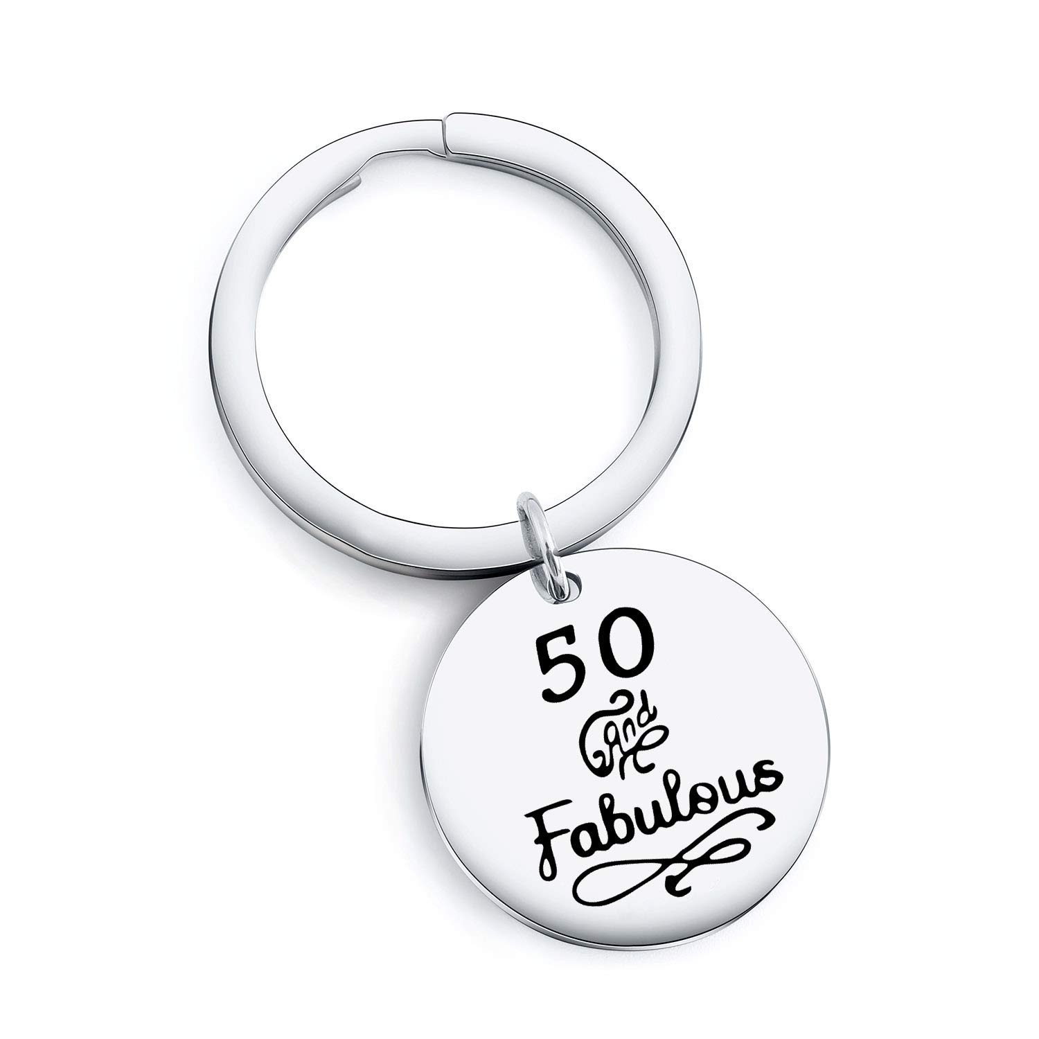 50th Birthday Key Ring For Sister In Law Gift Friends Mother Gifts Father Daughter