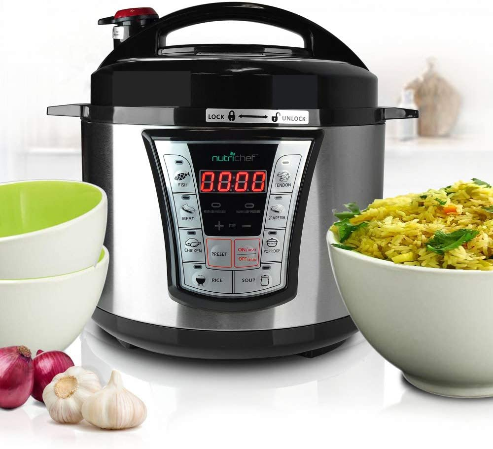 NutriChef Electric Pressure Programmable Multi-Cooker