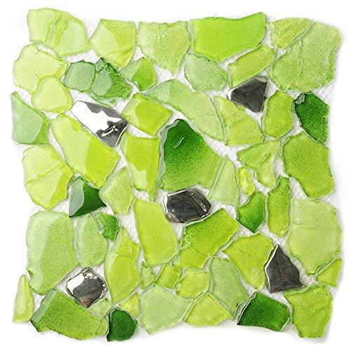 2017 NEW! Free Pattern Glass Tile Kitchen Backsplash Idea Bath Shower Wall Decor Home Art improvement material,LSWZ02 (Pack of 10.76sq.ft )