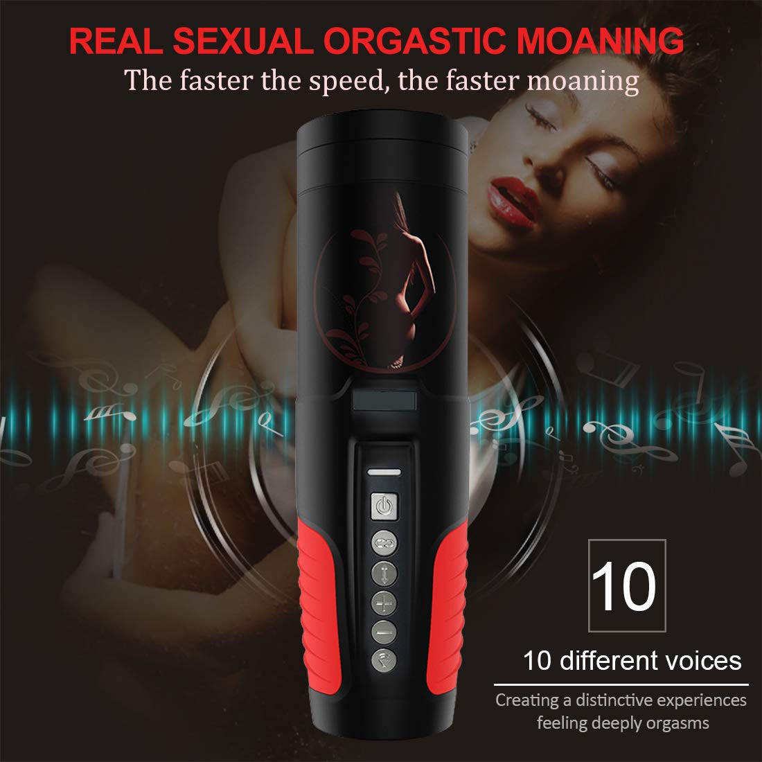 Male Vibrating Prostate Massager FYYLI Toy with 2 Powerful Motors and 10 Stimulation Patterns for Wireless Remote Control Anal Pleasure, Unisex G spot Vibrator Anal Toy T-Shirt by FYYLI (Image #6)