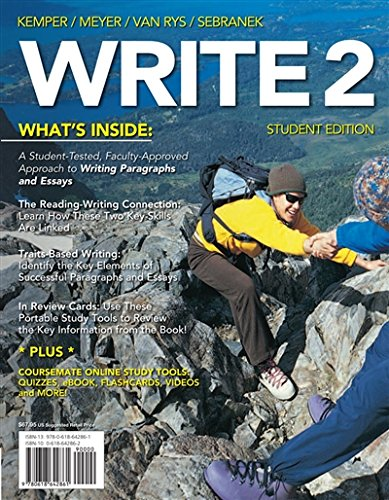 WRITE2 (with CourseMate Printed Access Card) (Basic Writing)