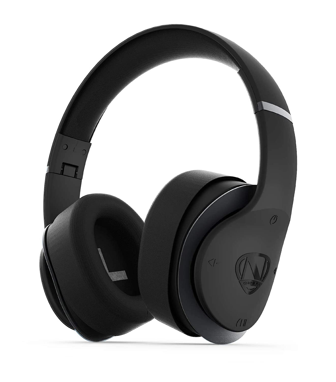 NCredible AX1 Bluetooth Wireless Headphones, Enhanced APT-X Audio, Tuned by Nick Cannon, Foldable Headset, Adjustable Padded Headband, Soft Ear Cushions, Built-in Mic, Ear Cup Controls (Gunmetal)