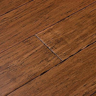 Cali Bamboo - Solid Click Bamboo Flooring, Medium Antique Java Brown, Aged - Sample