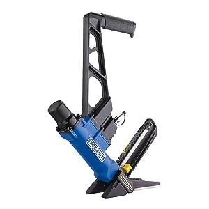 Estwing EFL50Q 2-in-1 Pneumatic Flooring Nailer and Stapler Ergonomic & Lightweight Pneumatic Nail Gun for Hardwood Flooring with Interchangeable Base Plates, No-Mar Feet & Mallet