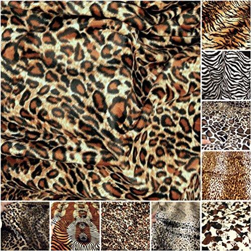 Kurzhaar Kunstfell als Meterware - tolle Tierfell-Imitat Stoffe (Leopard)