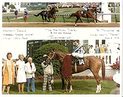 Secretariat 1973 Kentucky Derby Winner Horse Race Photo