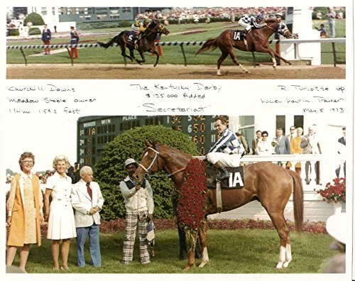 SECRETARIAT 1973 KENTUCKY DERBY WINNER HORSE RACE PHOTO