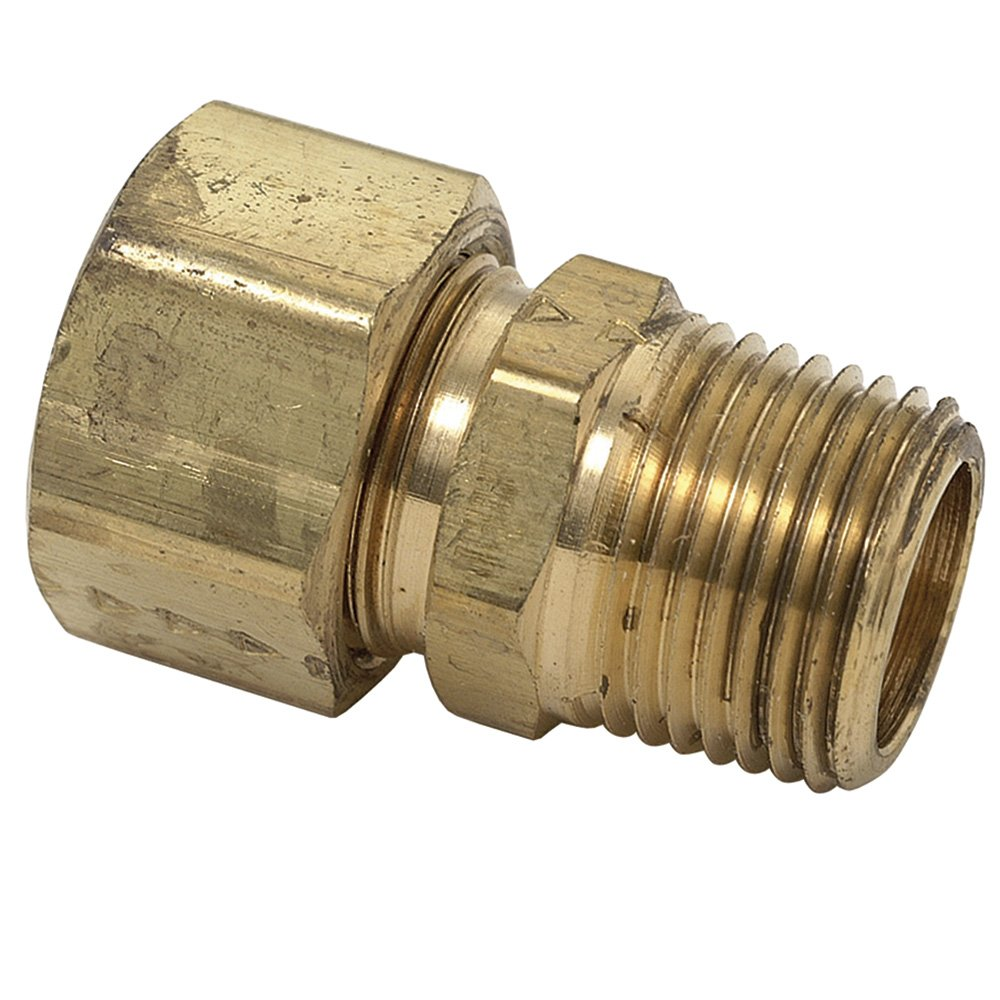 Inch Male Reducing Adapter Rough Brass Brasscraft 68-6-2 3//8 O.D by 1//8