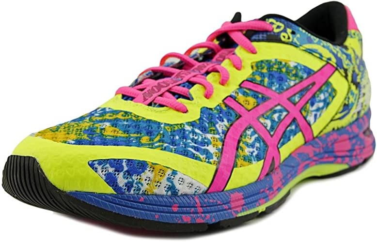 Asics - Zapatillas para Mujer Azul Yellow/Pink/Electric Blue: Amazon.es: Zapatos y complementos