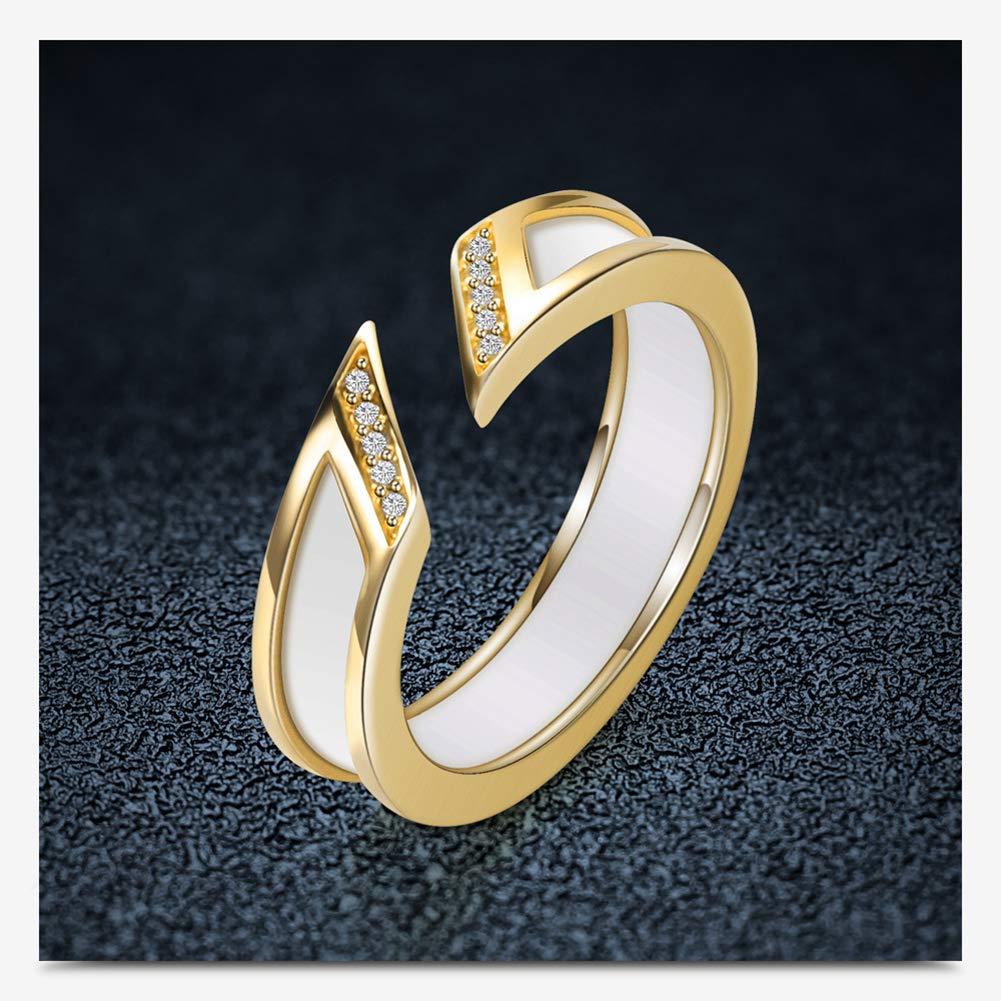 AllRing Herrenring aus Keramik,Ringffnung Diamant Keramikringe ...