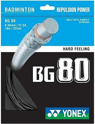 Yonex BG80 - Best badminton string for precise power hitting.