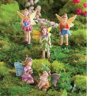 HearthSong Nature Themed Fairies, Set Of 5, In Girl
