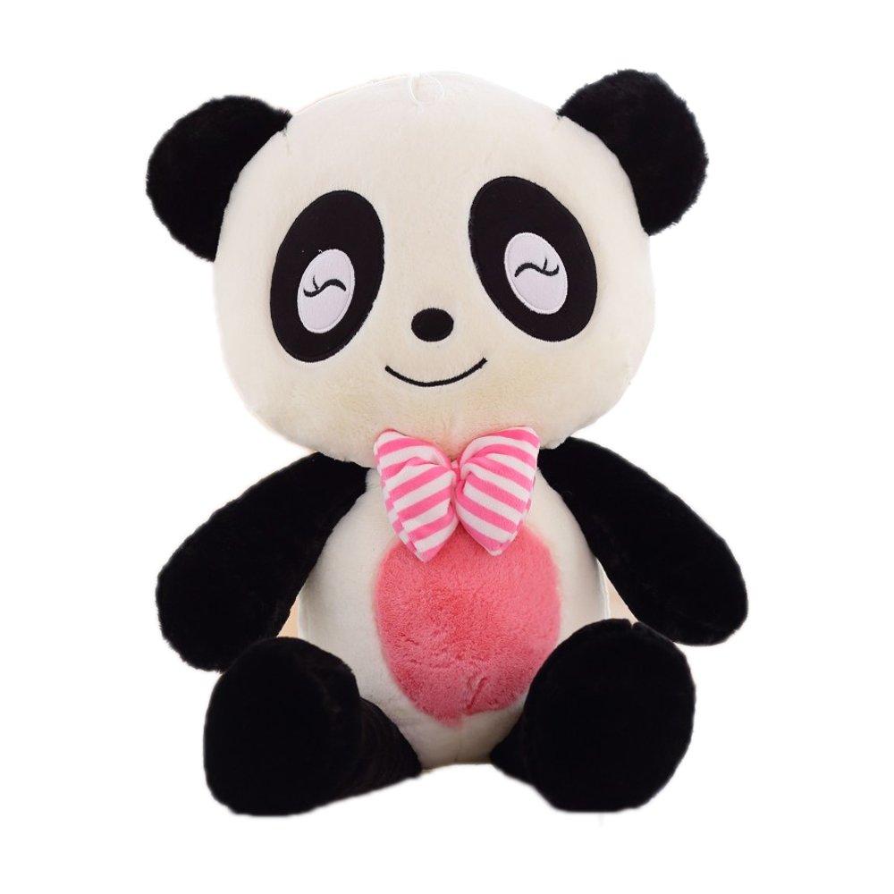 Cartoon Cute Cuddly Lovely Creative Animal Panda Stuffed 3D Pom Plush Lumbar Soft Big Hugging Figure Bolster Bed Sofa Cushion Nursery Home Office Decoration Baby Play Toy Sleep Throw Pillow Gift 23.6''