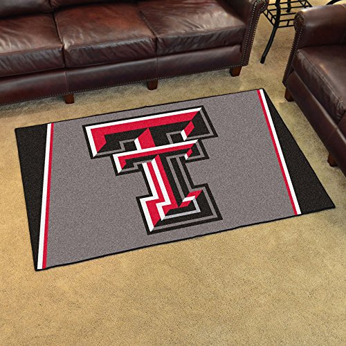 Texas Tech Rug - Fanmats Sports Team Logo Design Texas Tech Rug 4x6 46