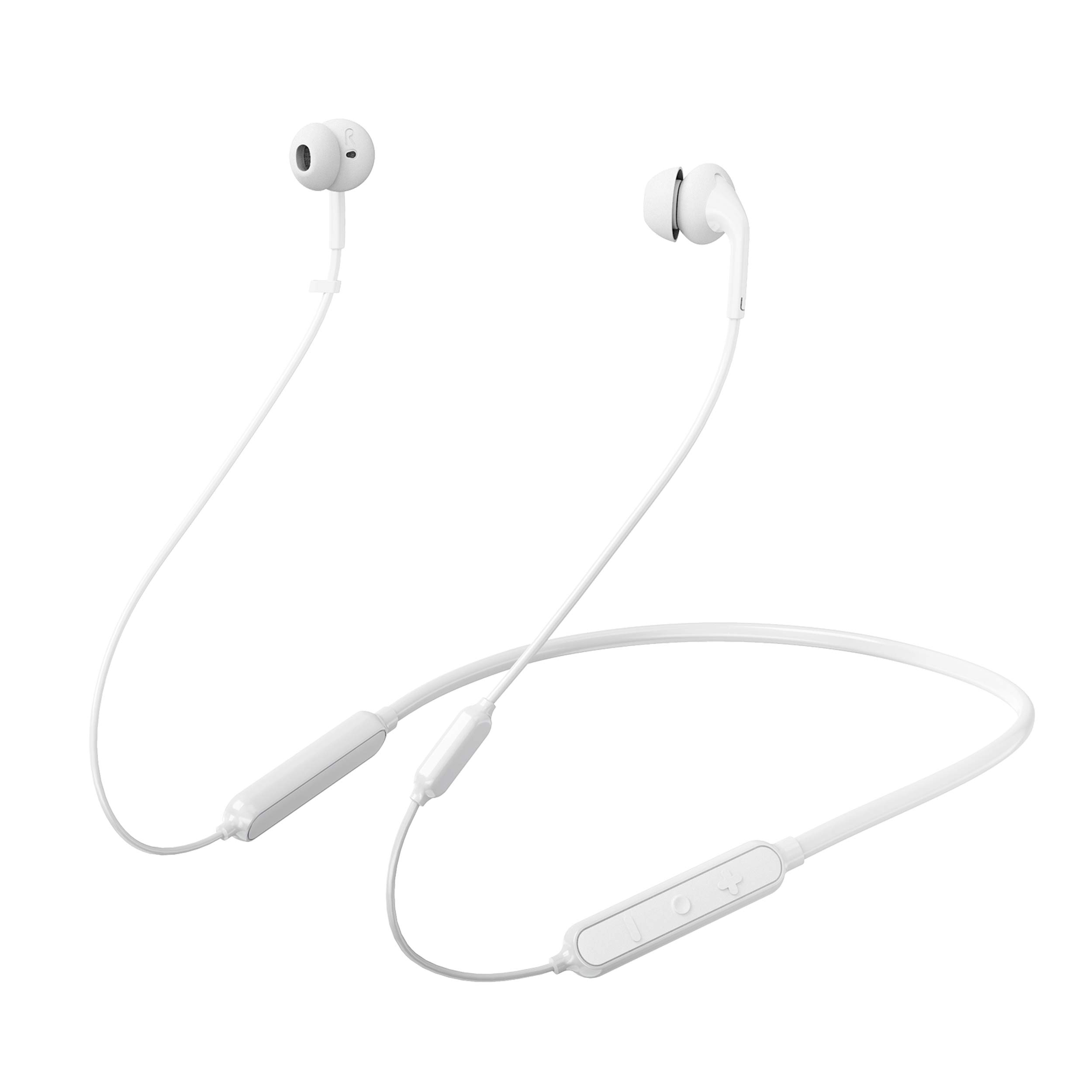 233621 Wave. Bluetooth 5.0 Wireless Neckband Headphones. 15 Hrs Playtime, Stable, Reliable, Fast Pairing, Bluetooth 5.0, Calling Noise Reduction, IPX5 Waterproof & Skin-Friendly (White)