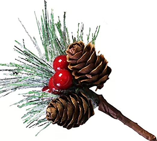 Amazon Com Best Choice Products Set Of 2 24 5in Outdoor Pre Lit Snow Flocked Artificial Pathway Christmas Trees W 70 Tips Led Lights Red Berries Frosted Pine Cones Red Ornaments Home Kitchen
