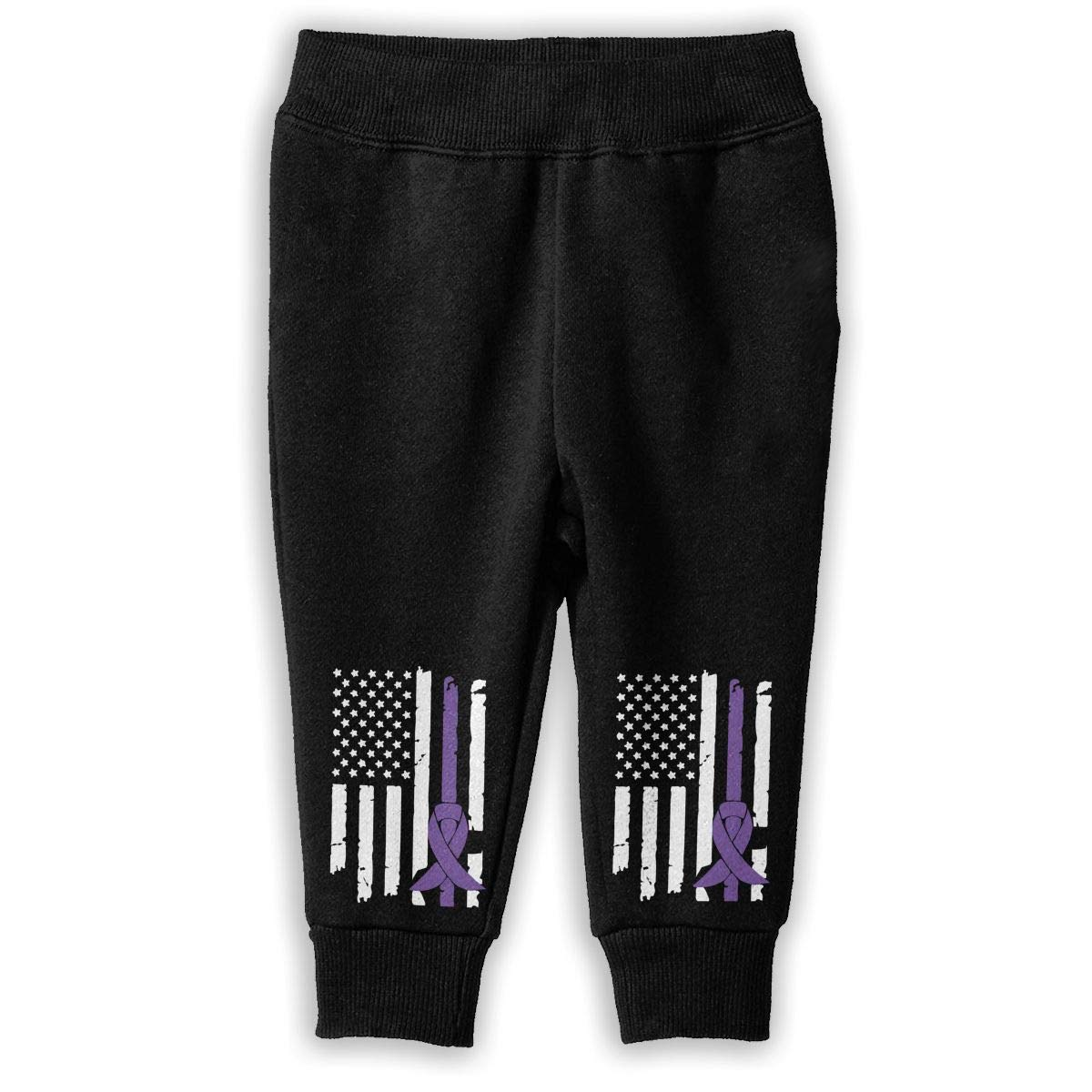 NJKM5MJ Pancreatic Cancer Awareness USA Flag-1 Sweatpants Baby Boys Athletic Pants