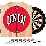 UNLV Deluxe Solid Wood Cabinet Complete Dart Set - Officially Licensed!