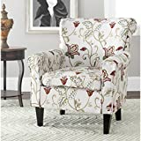 Safavieh Mercer Collection Margaret Ivory Floral Cotton Club Chair
