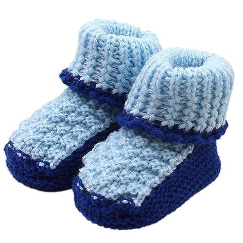 QinMM Zapatos de Punto para bebés recién Nacidos niña y niños Botas ...