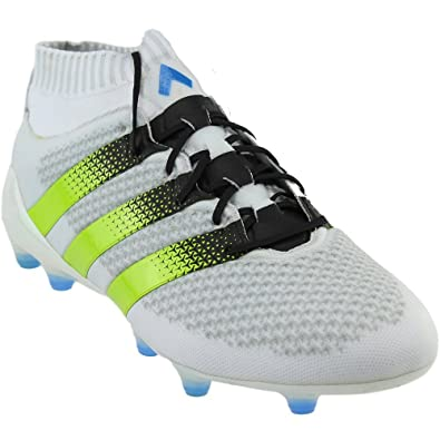 4e79b06dc Image Unavailable. Image not available for. Color  adidas Mens Ace 16.1  Primeknit FG AG Athletic   Sneakers White