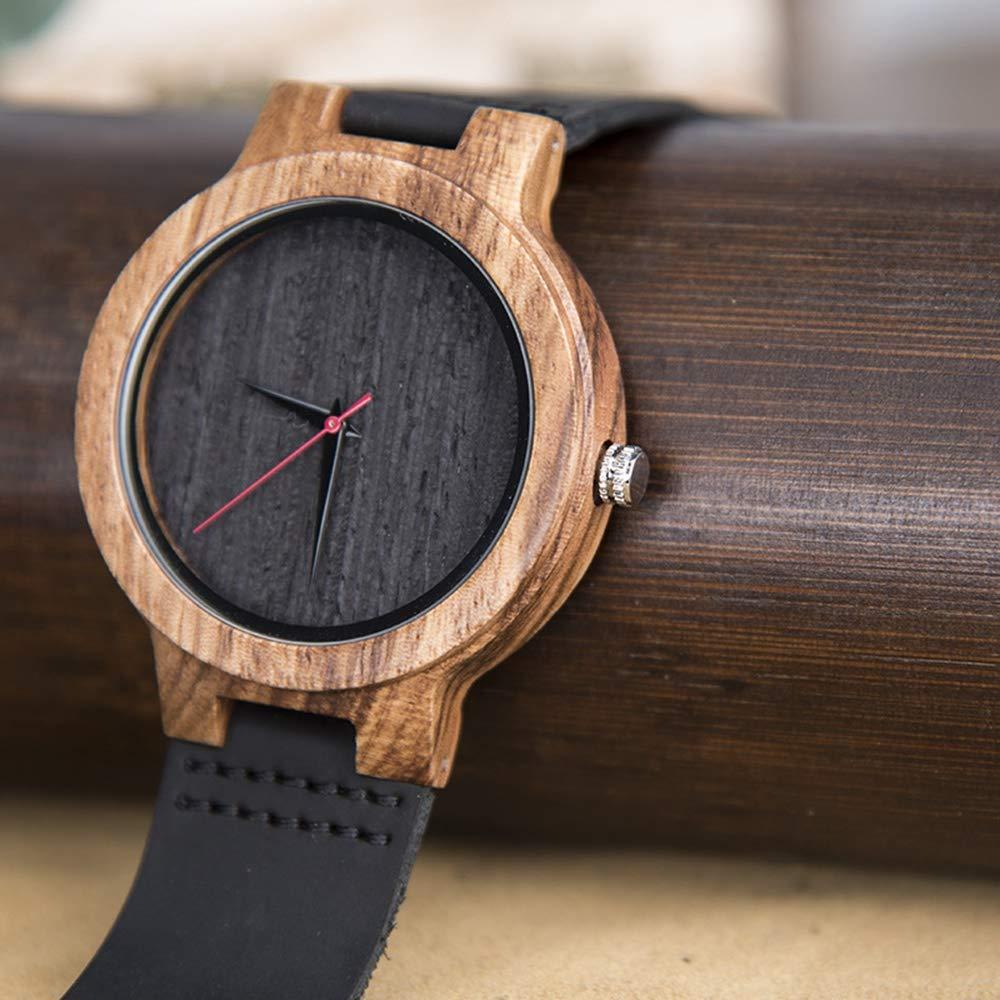 # klockor par trä multifunktionsklocka, kreativ koreansk stil, kvartsrörelse, är den bästa semestergåvan för älskare, vänner armbandsur b