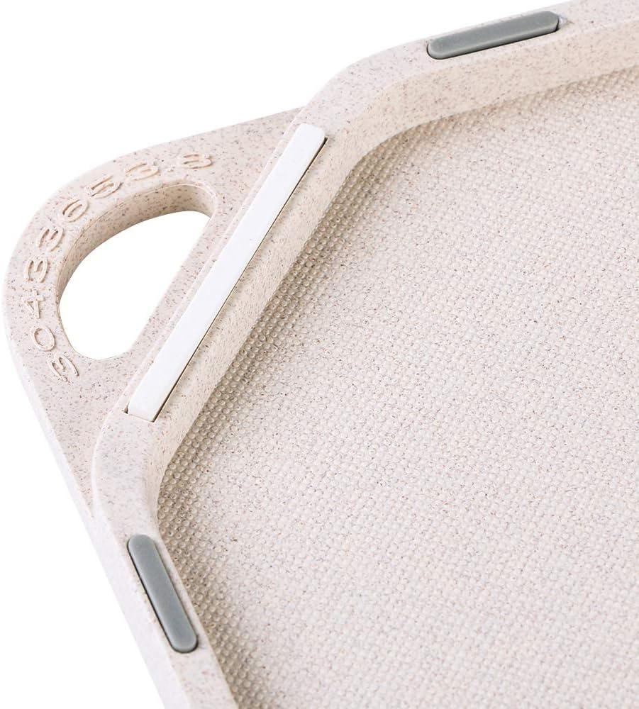 Canlanda Cutting Board Made of Rice husks on Both Sides Kitchen Board Non-Slip Made of Wheat Straw Antibacterial BPA-Free Dishwasher-Safe Biological Baking Board Blue