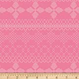 Art Gallery Wild Bloom Cross & Stitch Candy Pink Fabric By The Yard