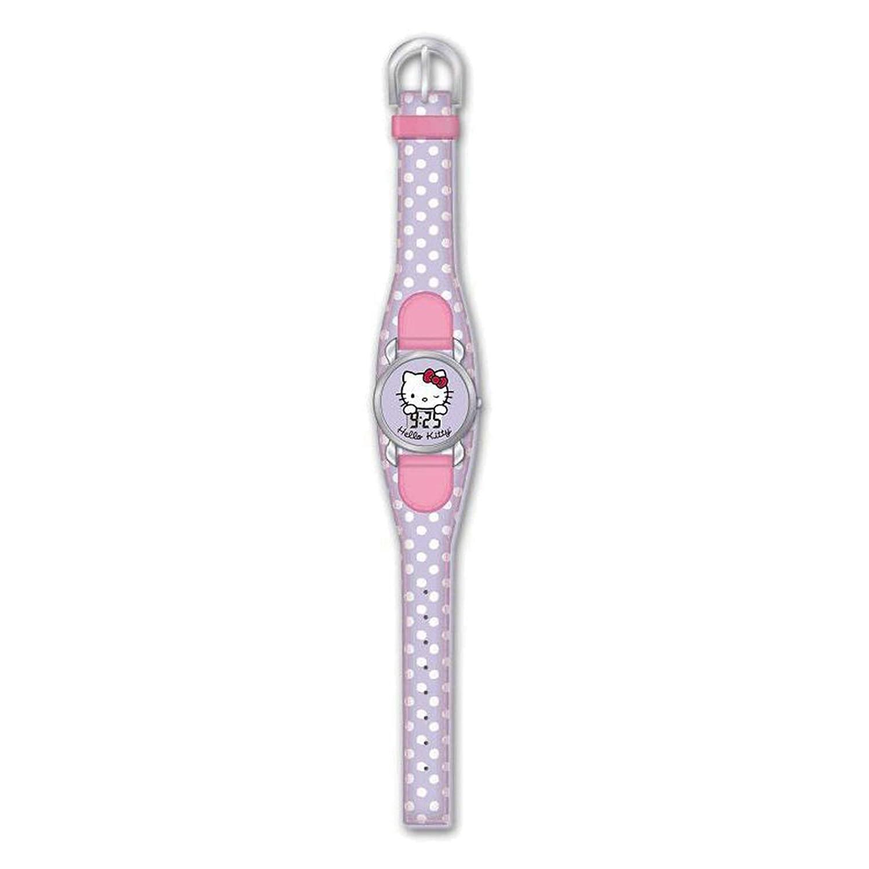 Hello Kitty HK25136 Reloj digital para niña, de cuarzo con correa de plástico violeta e ilustraciones de Hello Kitty: Amazon.es: Relojes