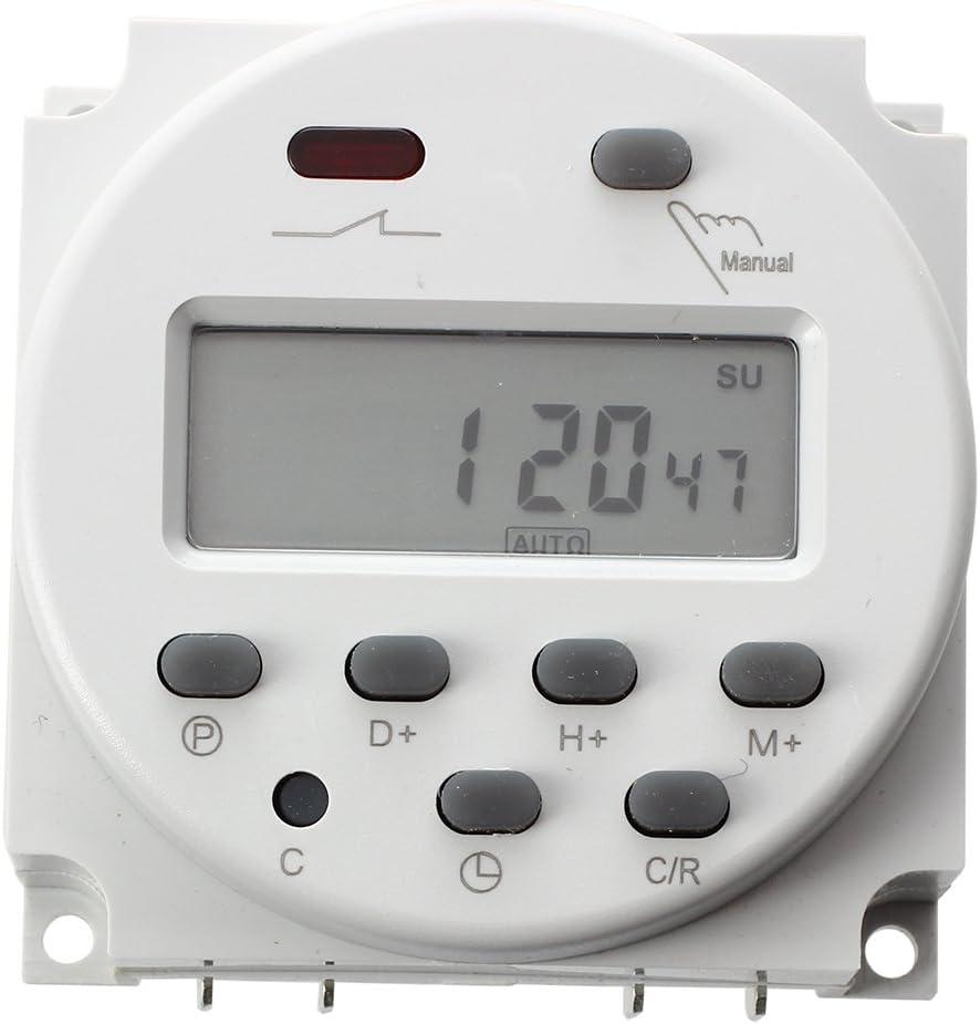 Andifany Nuovo LCD Digitale Controllo Energia Programmabile Temporizzatore DC 12V 16A Tempo staffetta Interruttore