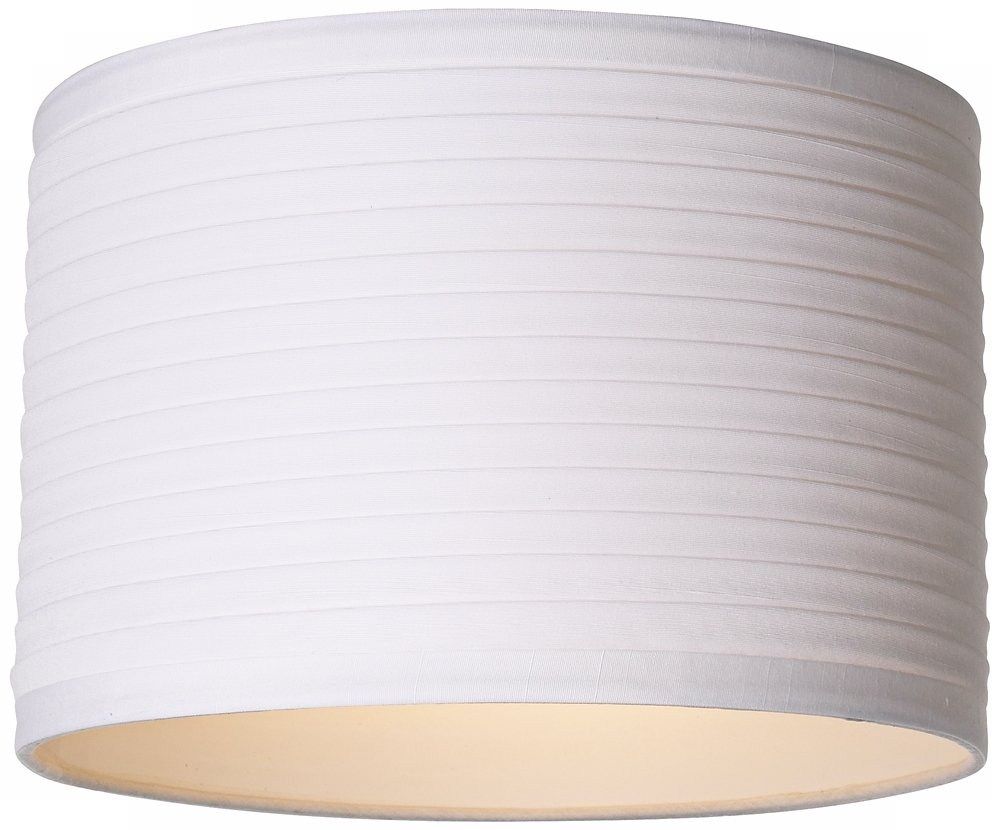 White Horizontal Pleat Drum Lamp Shade 11x11x7.5 (Spider ...