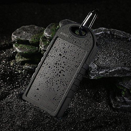 Borch Solar Panel Phone Charger 12000mah Power Bank (Black)