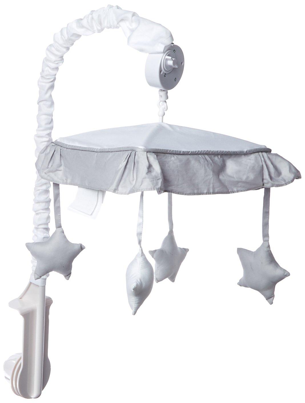 Sweet Jojo Designs White and Gray Modern Hotel Musical Baby Crib Mobile