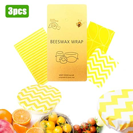 belukies [Paquete De 3] Zero Waste & Reusable Food Wrap ...
