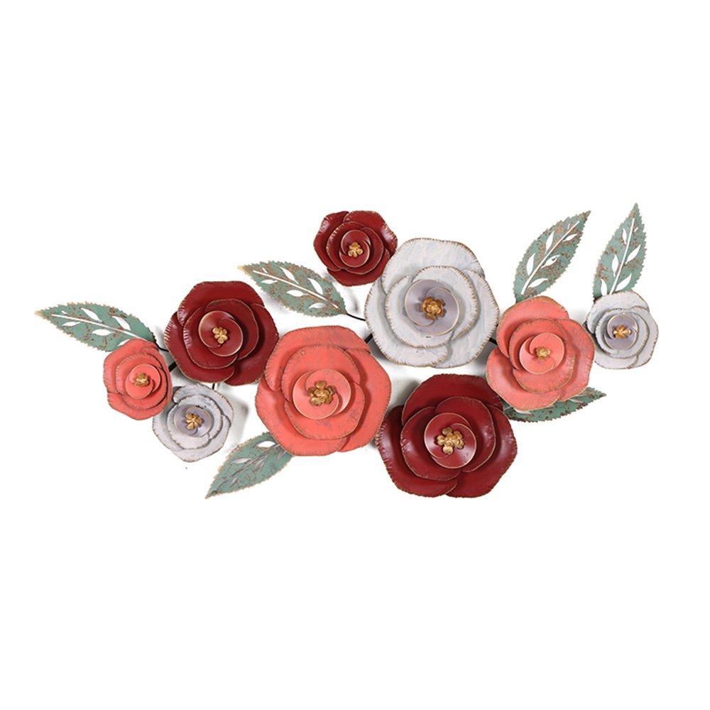 Europäischen Stil kreative Anhänger dreidimensionale Eisen Wanddekoration Wohnzimmer Wand verziert mit Blumen Wanddekoration
