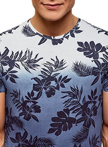 Di Blu Ultra 1279f Oodji Stampa Con Uomo T Gradiente shirt 8UqwTYxqp