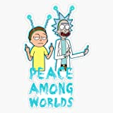 3.5 inch Leo70 - 2 Pack Rick and Morty Middle Finger Black Decal Sticker for Cars//Laptops//Windows