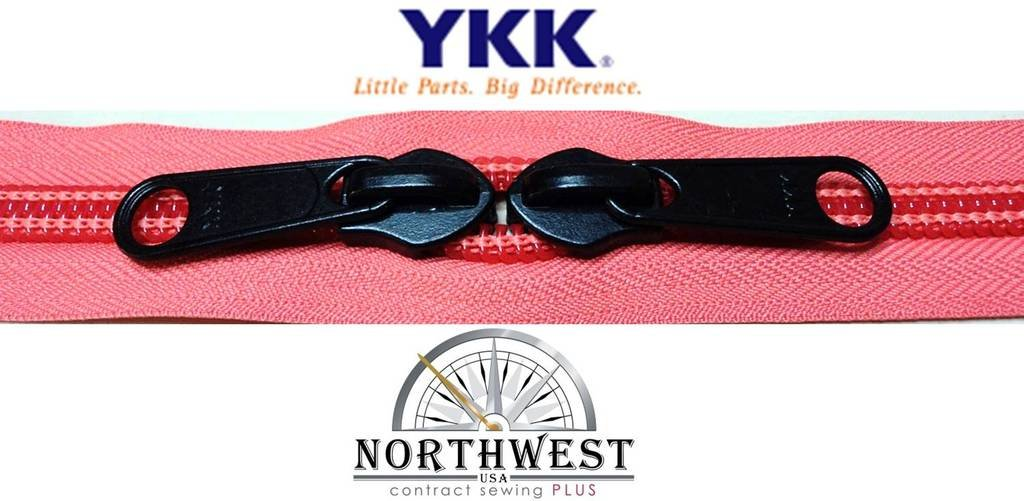 MANY COLORS Sold in 5-yard lots Please see our other listing for size 5 /& size 8 YKK #10 Zipper coil chain with 2 sliders per yard 5 yards /& 10 black sliders, Black