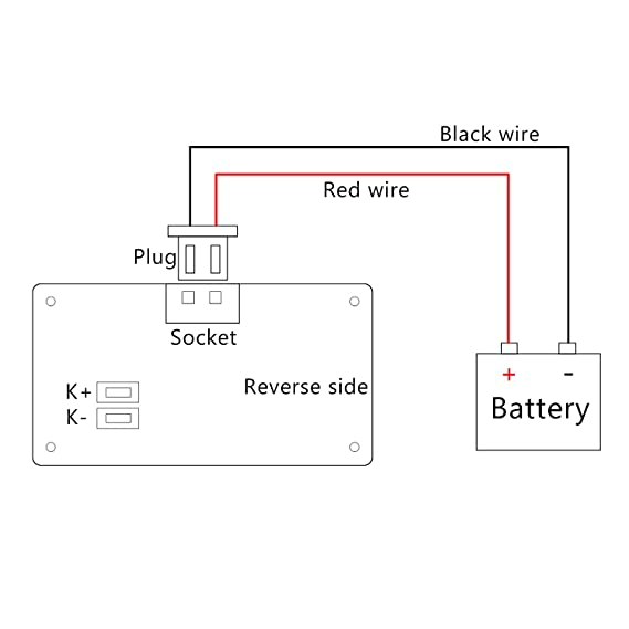 Admirable Dc Battery Meter Drok Digital Battery Voltage Capacity Percent Wiring Digital Resources Attrlexorcompassionincorg