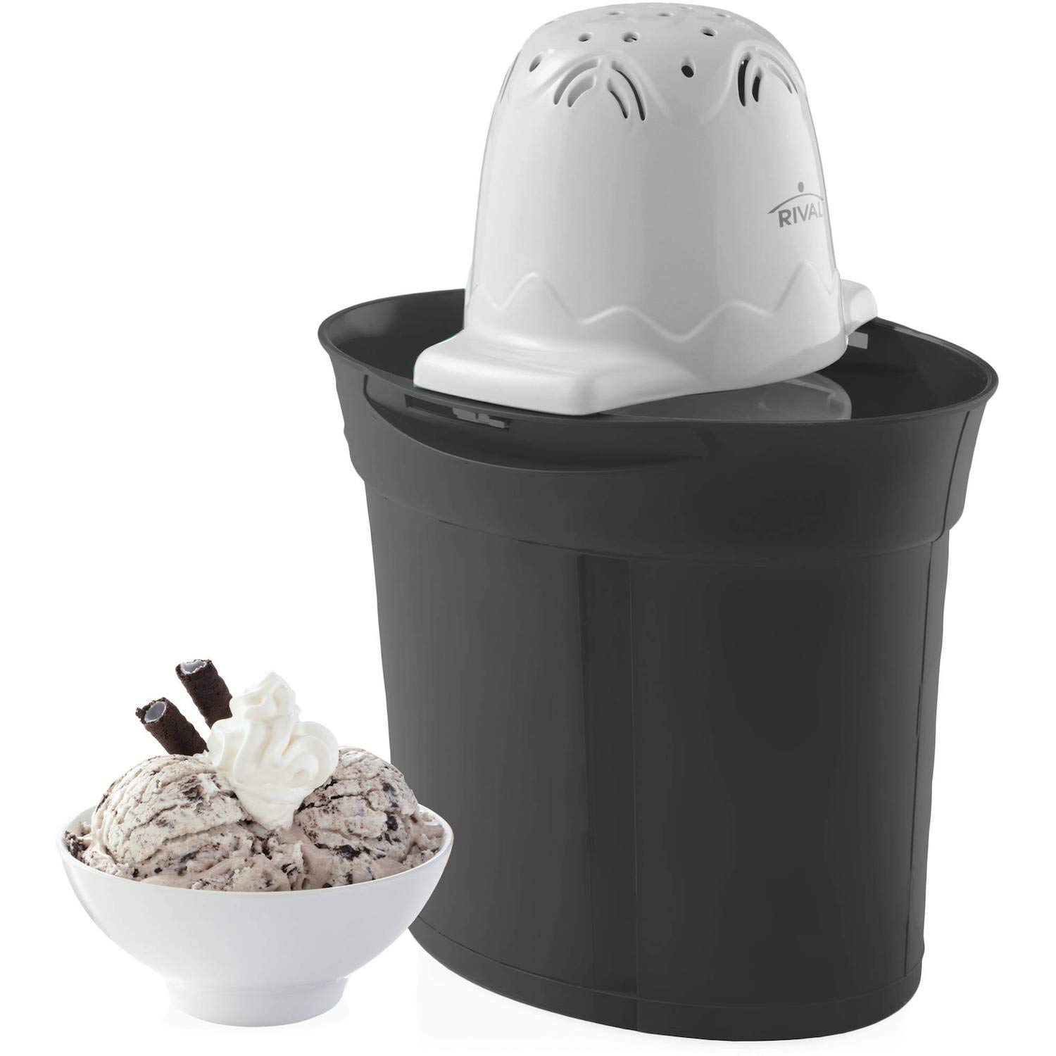 Rival Frozen Delights 4 Quart Ice Cream Maker - BLACK by Rival (Image #1)