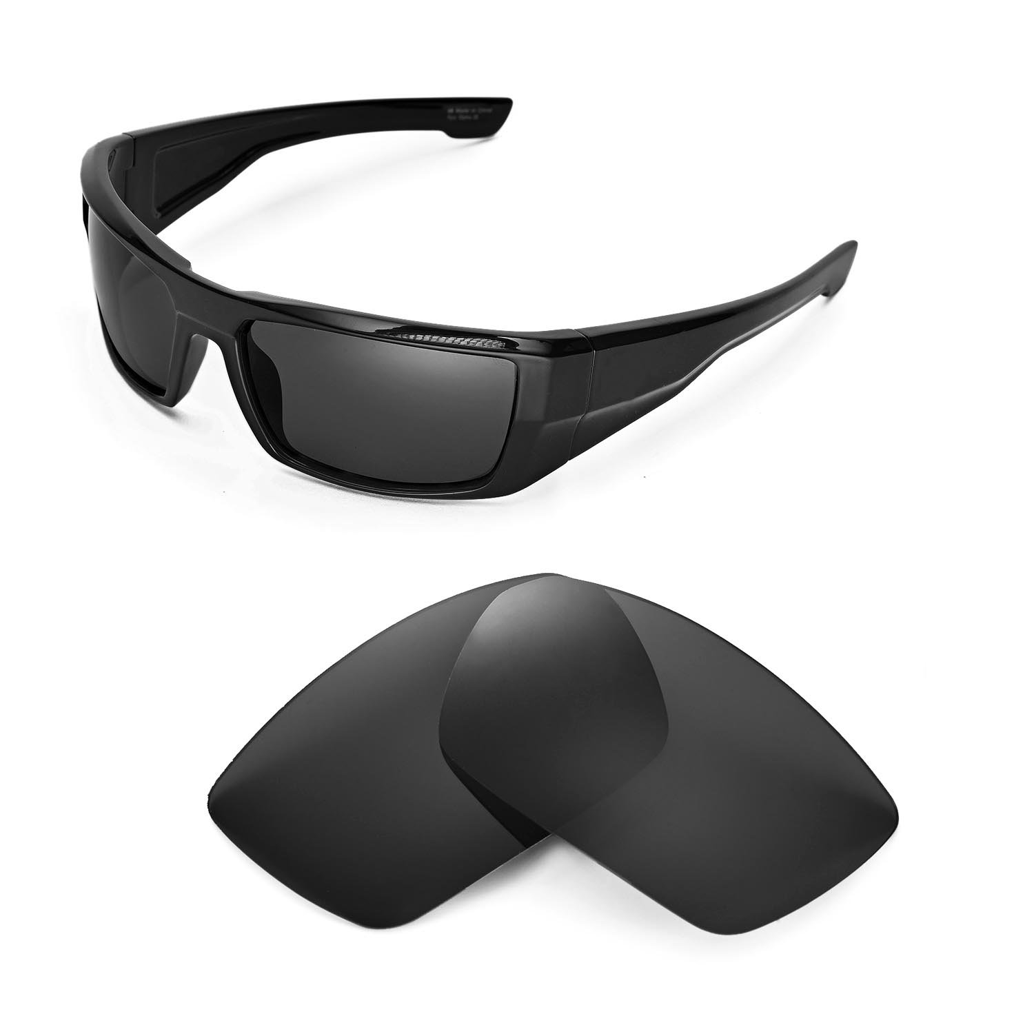 77bc1ff4ae Amazon.com  Walleva Replacement Lenses for Spy Optic DIRK Sunglasses -  Multiple Options Available(Black - Polirazed)  Sports   Outdoors