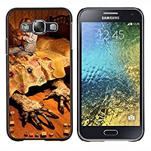 LECELL--Funda protectora / Cubierta / Piel For Samsung Galaxy E5 E500 -- Madres Sueño Infantil Rural Noche --