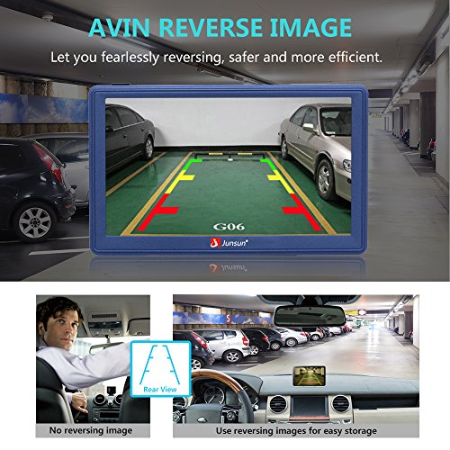 GPS Navigation for Car 7 Inch Android GPS Navigation with Bluetooth Built-in WiFi FM 3D Sat nav Navigator with Lifetime Maps by junsun (Image #3)