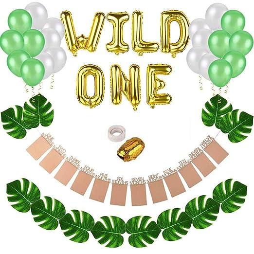 SunniY Year-Old Balloon Wild One - Kit de decoración para ...