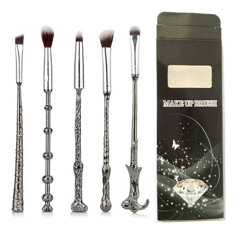 Make-up-Pinsel von Fashion Base®, 5-teiliges Pinsel-Set mit Metallgriff, Lidschatten-, Augenbrauen-, Nasen- und Puder-Pinsel, Kabuki Make-up-Pinsel