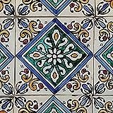 Casa Moro Marokkanische handbemalte Keramikfliese Hadiya 10 x 10 cm