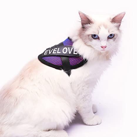 Evitar escapar Arnés de Malla para Gatos con Chaleco Acolchado Suave para Control de Comodidad para