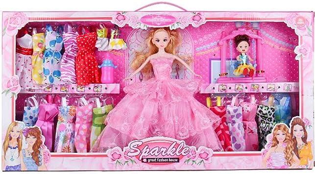 10 x paquet filles jouet poupée barbie nouveau accessoires tenues robes sac valises