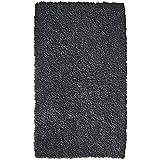 Pinzon 100% Cotton Looped Bath Rug with Non-Slip Backing - 30 x 50 inch, Platinum
