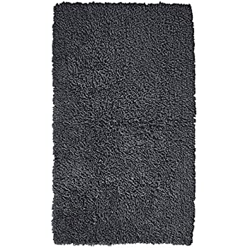 Amazon Com Pinzon 100 Cotton Looped Bath Rug With Non